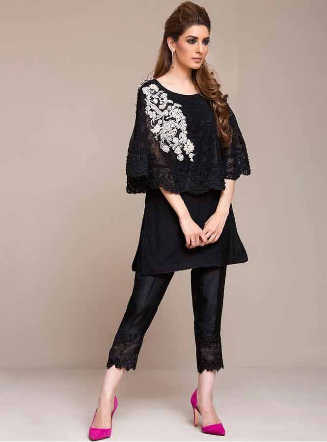 05c578d294 latest black short shirt with black pajama girls net dresses 2017 pakistani  party dresses with price