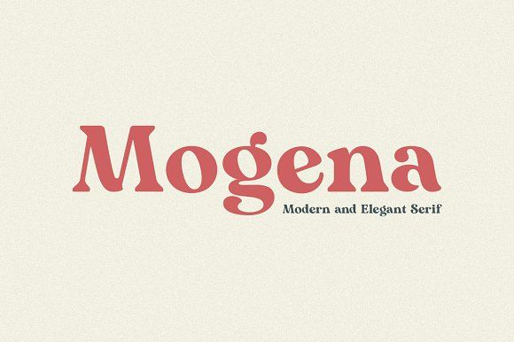 Mogena - Modern Serif Font by Kulokale on @creativemarket #softwaredesign