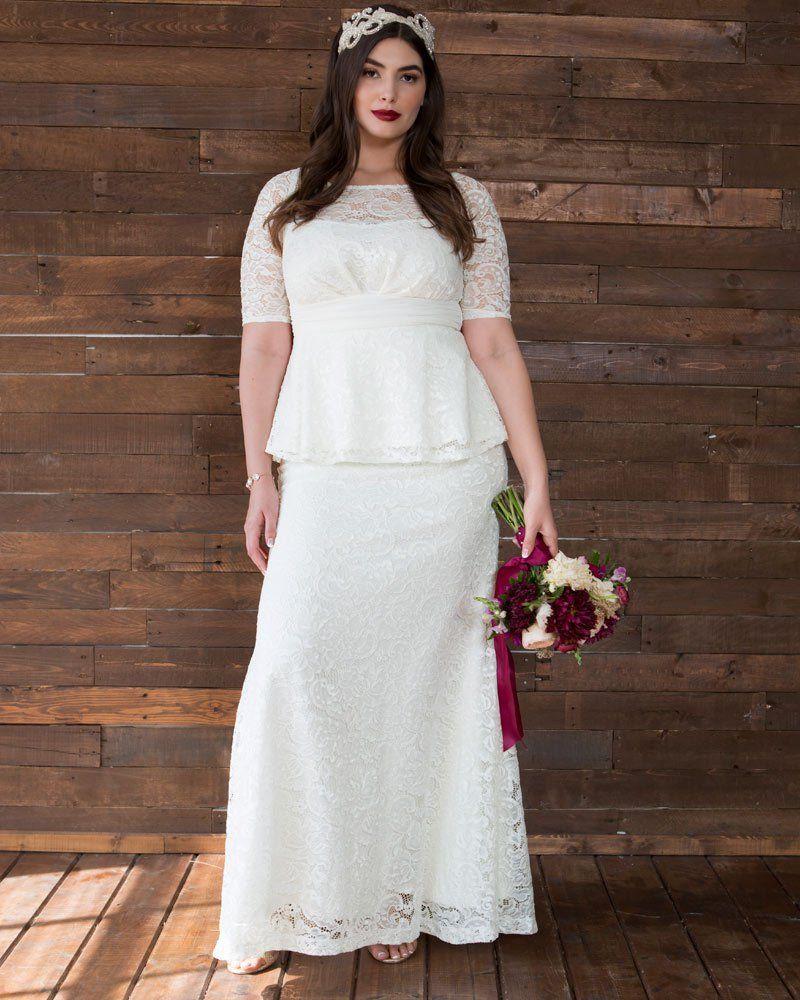 poised peplum wedding gown in 2019   peplum wedding gowns