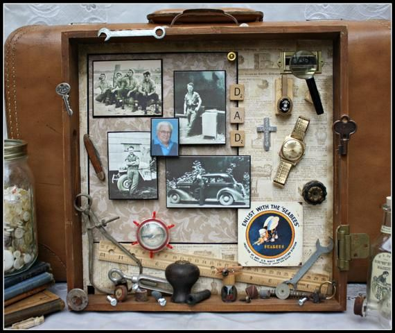 Photo of Memory Box, Geliebte, Vater, Eltern, Vintage Box, Tribut