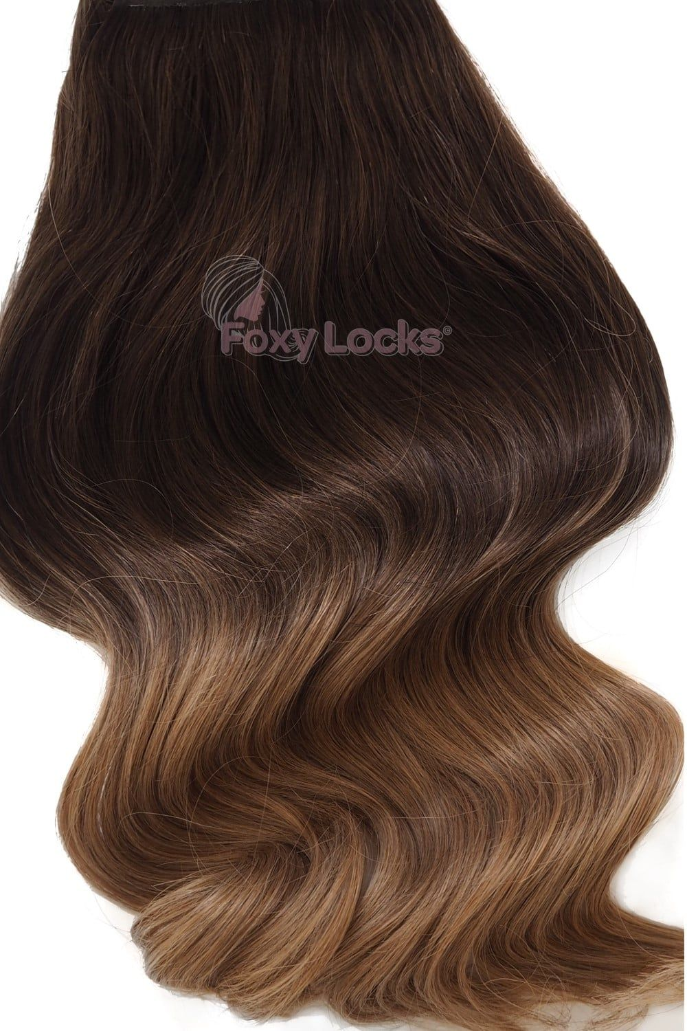 Mocha toffee ombre regular seamless 18 clip in human hair mocha toffee ombre regular seamless 18 clip in human hair extensions 125g from pmusecretfo Choice Image