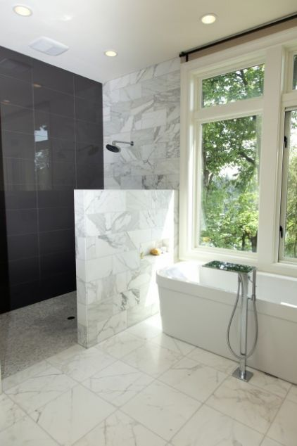 contemporary bathroom by Whitney Lyons   Dream Home   Pinterest ...