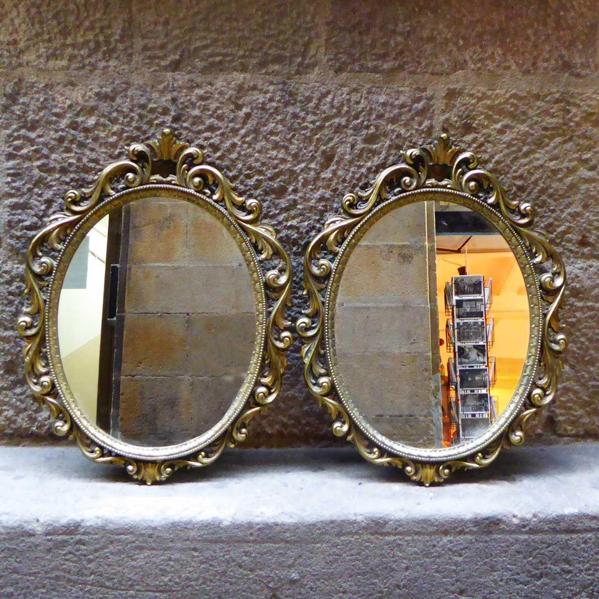 Pareja de espejos antiguos | Marco marco