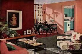 Vintage Interior Drawings 50s And 60s   Google Zoeken