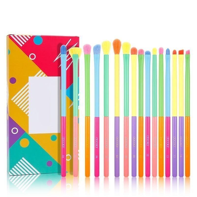Bunte Make-up Pinsel Werkzeugsatz Kosmetisches Puder Lidschatten Foundation Blush Blending Beauty Brush