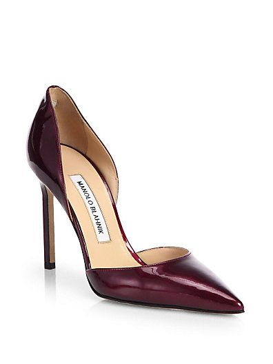 Manolo Blahnik Patent Leather D'Orsay Sandals cost cheap price cheap sale cheapest price vYbNEFM