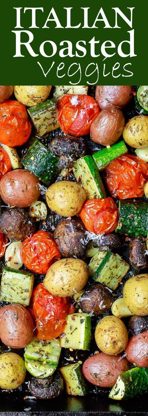 Oven Roasted Vegetables Italian Oven Roasted Vegetables | The Mediterranean Dish. Simple and delicious oven roasted vegetables, the Italian way! Not your average side dish! These veggies will be your new favorite! Comes together in 20 mins or so. See the recipe on Italian Oven Roasted Vegetables | The Mediterranean Dish. Simple a...