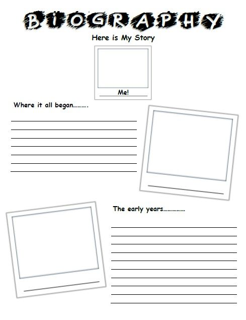 Hereu0027s a fun way to write and draw your own biography https\/\/www - biography template