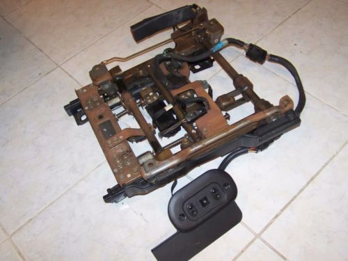99-04 ford mustang power seat track assembly w/wiring harness & control  switch