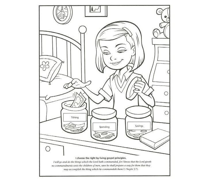 Tithing Coloring Page Printable Coloring Book Coloring Book Pages