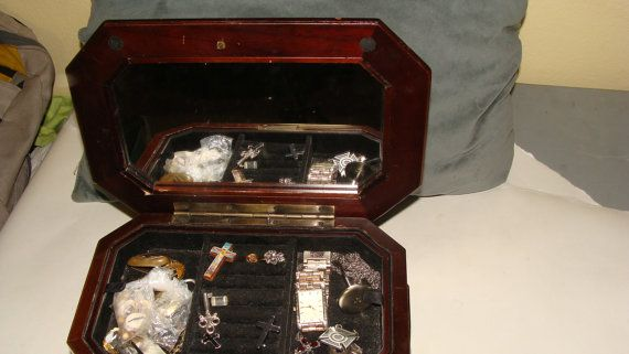 Beautiful Treasure Chest Jewelry Box by ASHLANDOREGONANTIQUE, $59.00