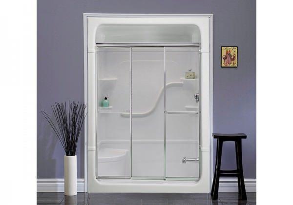 Tri Panel Shower Door Shower Stall Bathroom Design Shower Doors