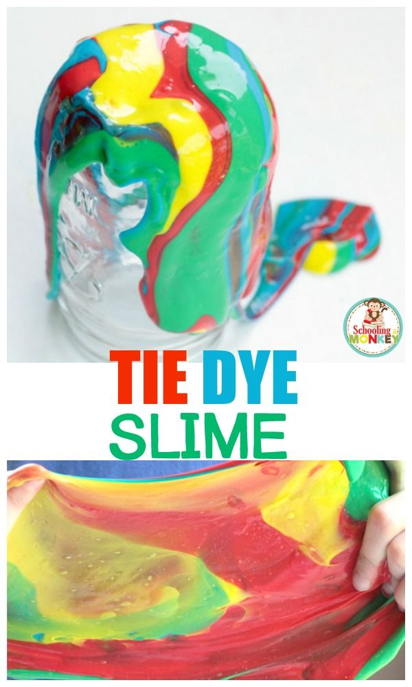 25677139fcd1 Slime is fun! Learn how to make tie dye slime in this fun variation on the  classic liquid starch slime recipe. The perfect summer activity for kids!