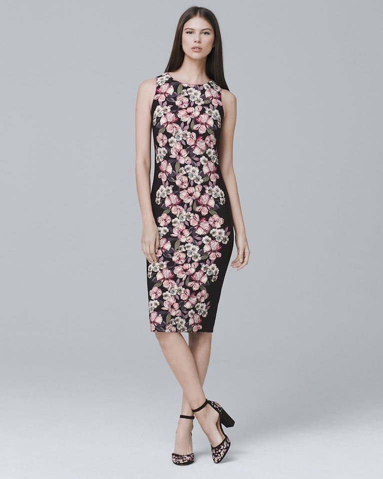 5f1baa7b Women's Reversible Floral-Print Sheath Dress by White House Black Market