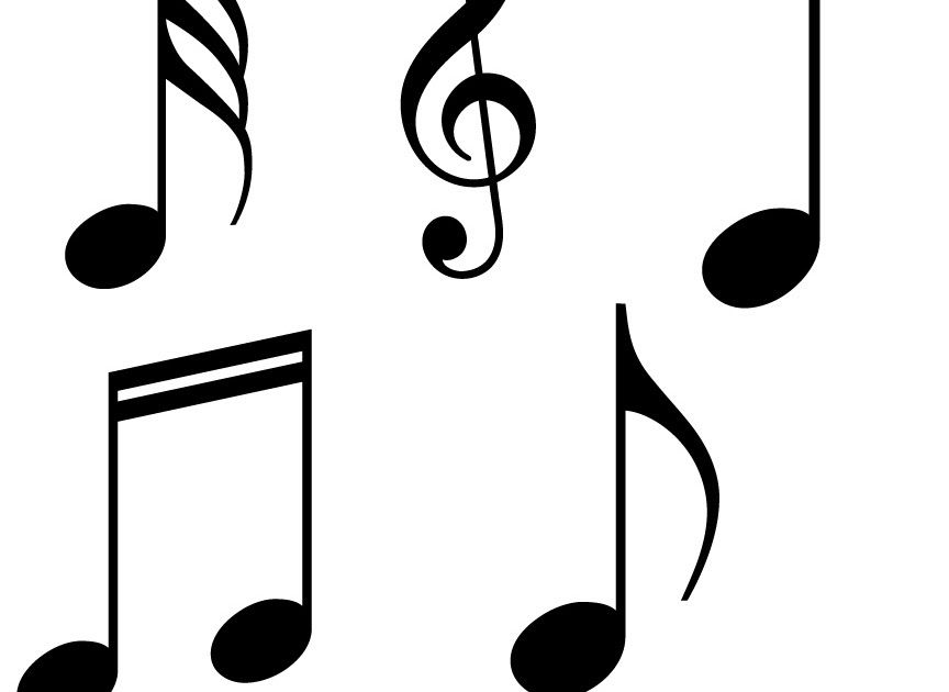 Free 5 SVG Music Symbols. You Can Download The File. For