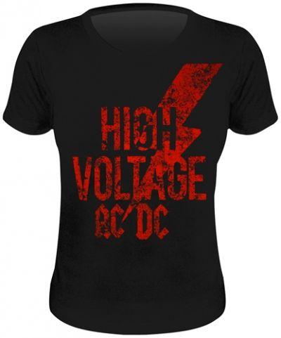 Tee Shirt Femme Acdc High Voltage Vintage T Shirts