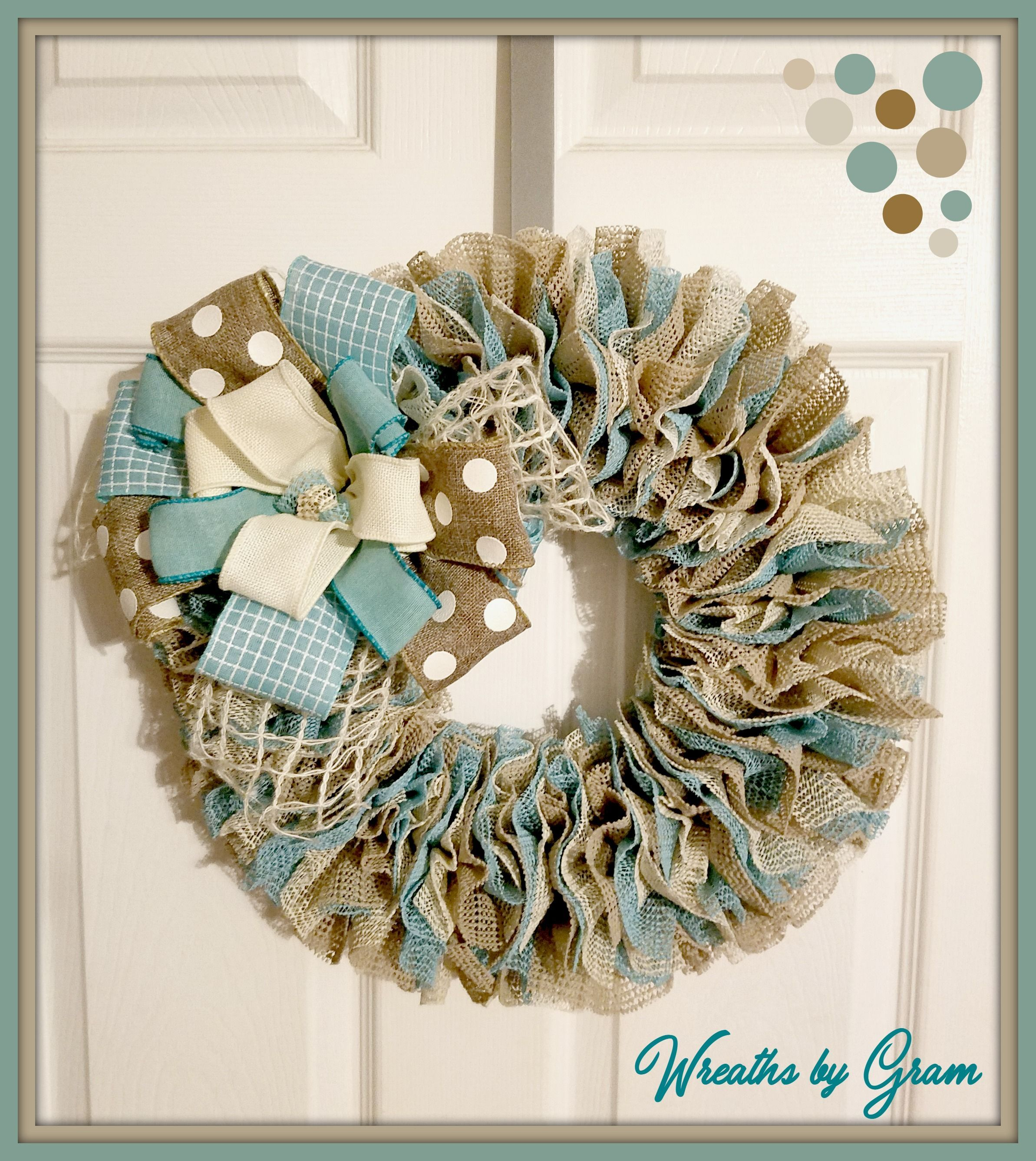 Summer Door Wreath Front Door Wreath Beach Decor Front Porch