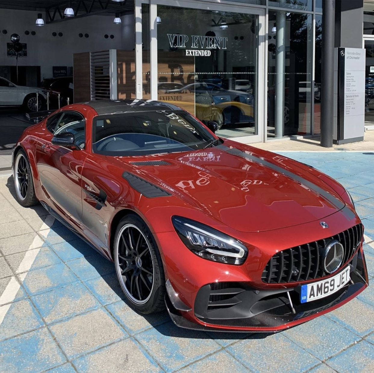 Mercedes Benz Amg Gtr Pro Painted In Hyacinth Red W Exposed
