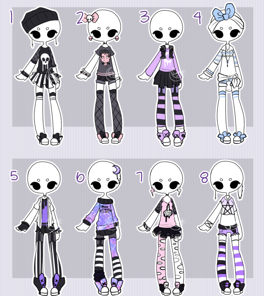Pastel outfit adopts CLOSED by Lunadopt   >>character ...