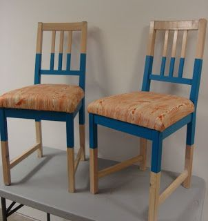 Ikea Stefan Chair Makeover with instructions on making chair ...
