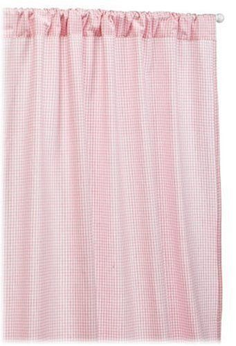 Tadpoles Basics 2 Set 63 Inch Curtain Panels Pink Gingham By Tiny Love 49 99 From The Manufactur Panel Curtains Rod Pocket Curtain Panels Gingham Curtains