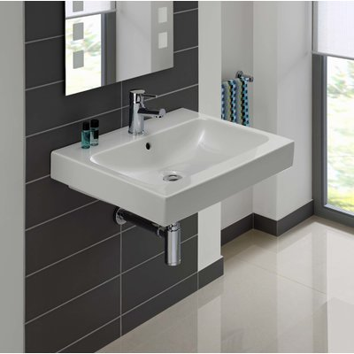 Bissonnet ICon Ceramic Rectangular Vessel Bathroom Sink with