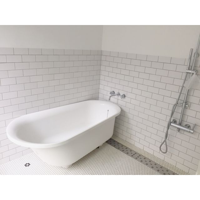 バス トイレ お風呂 タイル 造作浴室 Toto などのインテリア実例