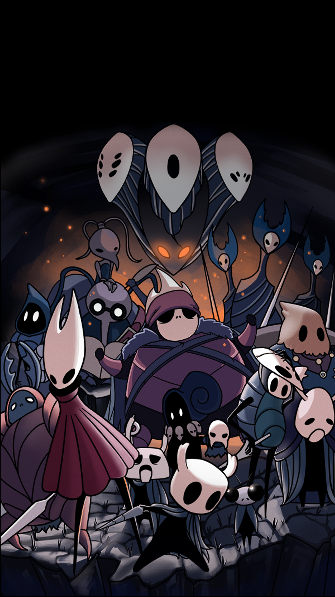 Hollow Knight Characters (Makes a good phone background