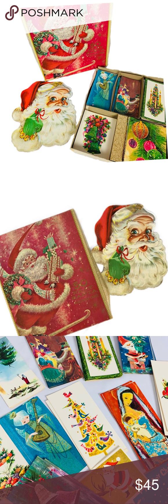Vintage Unused 50 Christmas Card Box Set Christmas cards