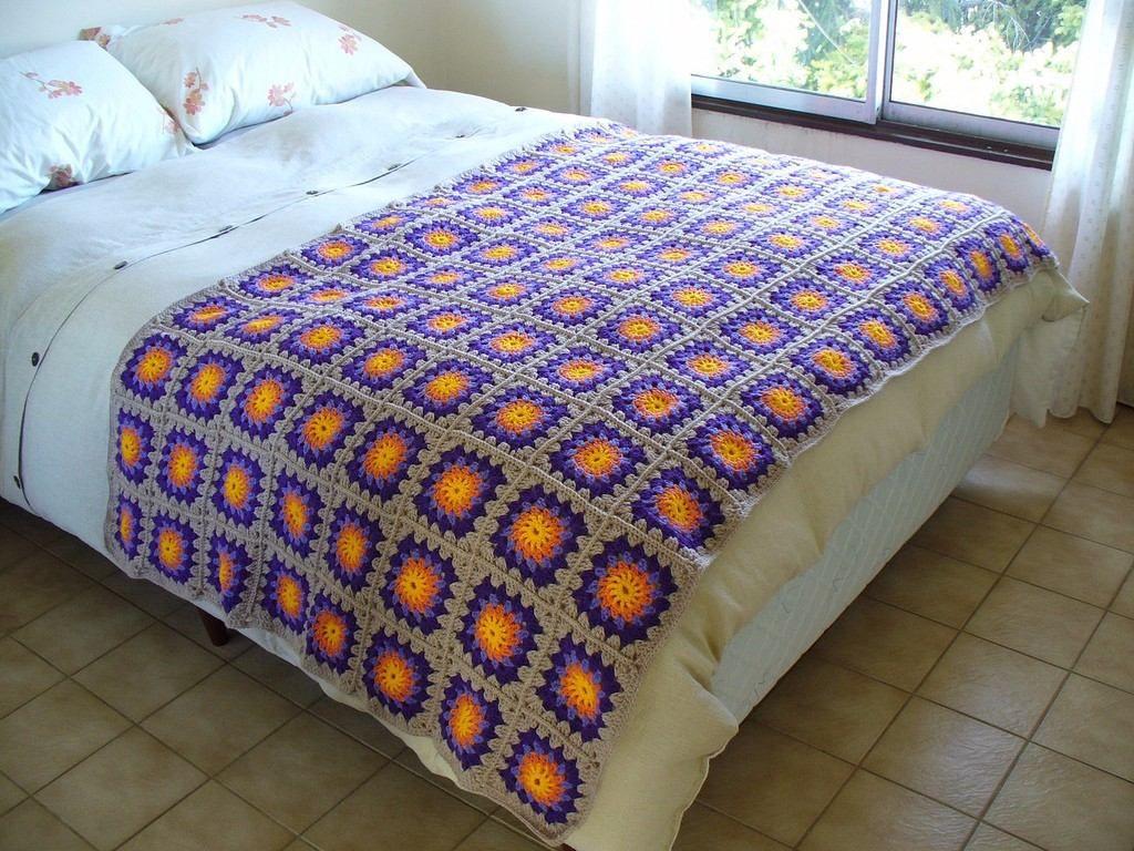 6a8f763ac Pie De Cama, Mantas ...tejidos Al Crochet - $ 950,00 en MercadoLibre ...