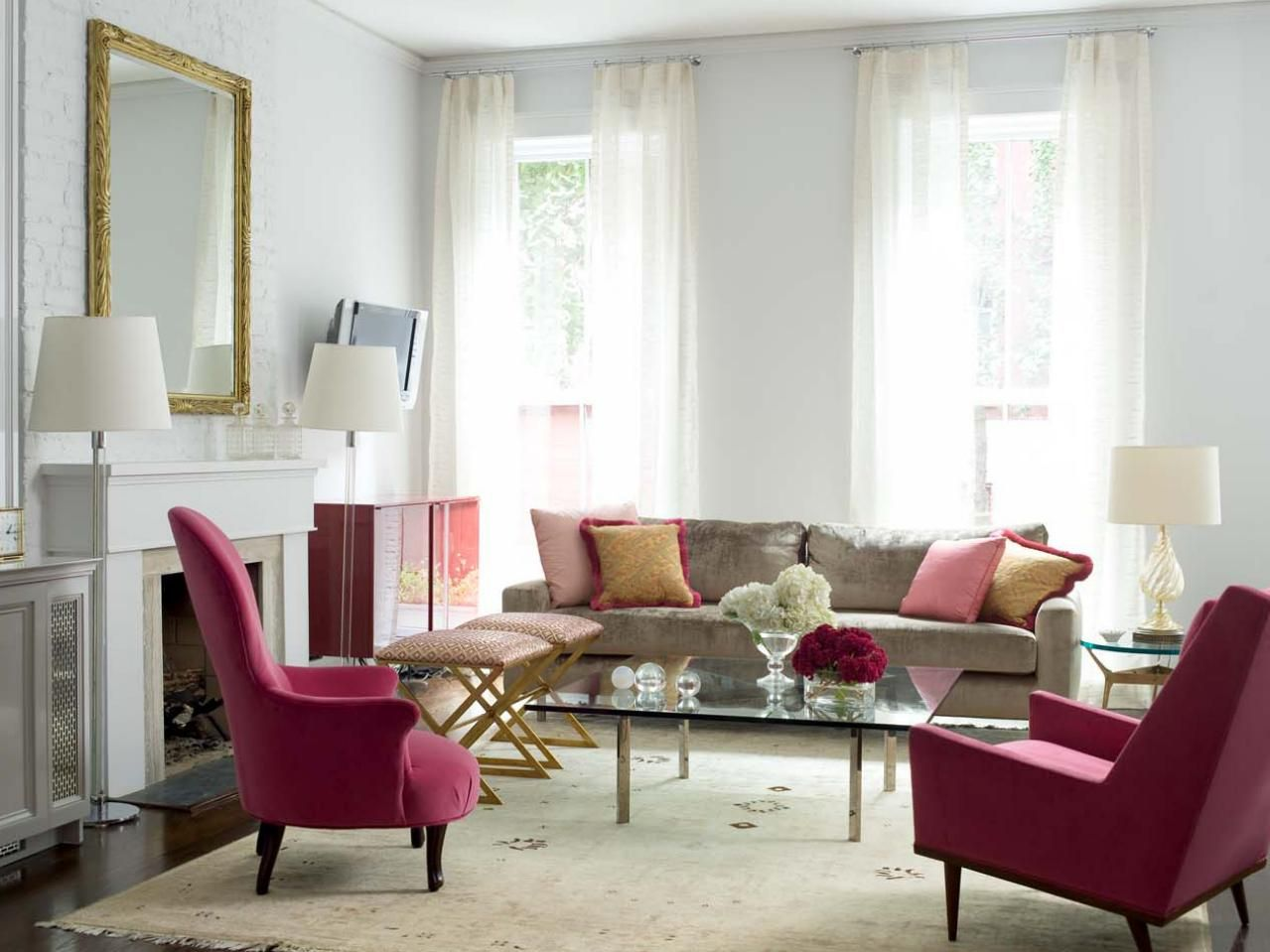20 Living Room Color Palettes You\'ve Never Tried | Media cabinet ...