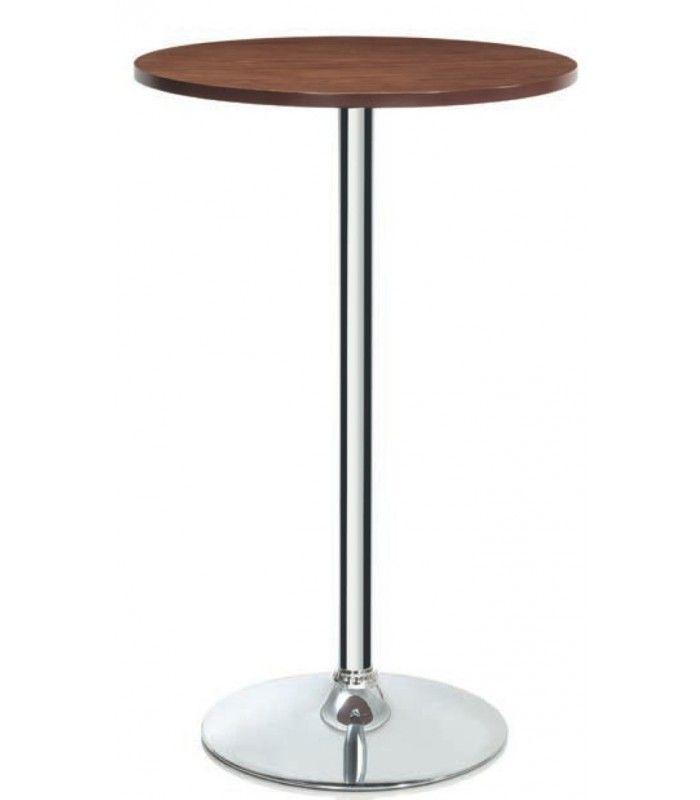 table haute de bar style usine en bois et m tal noir ajustable tables basses tables hautes. Black Bedroom Furniture Sets. Home Design Ideas