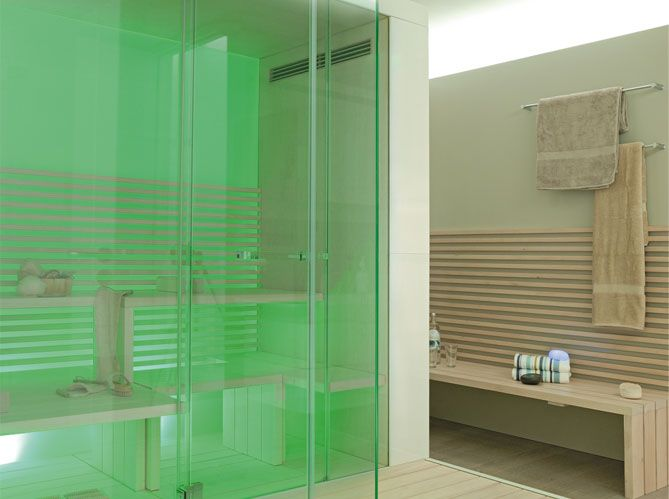 Hammam ou sauna ? - Elle Décoration | Saunas, Family bathroom and ...