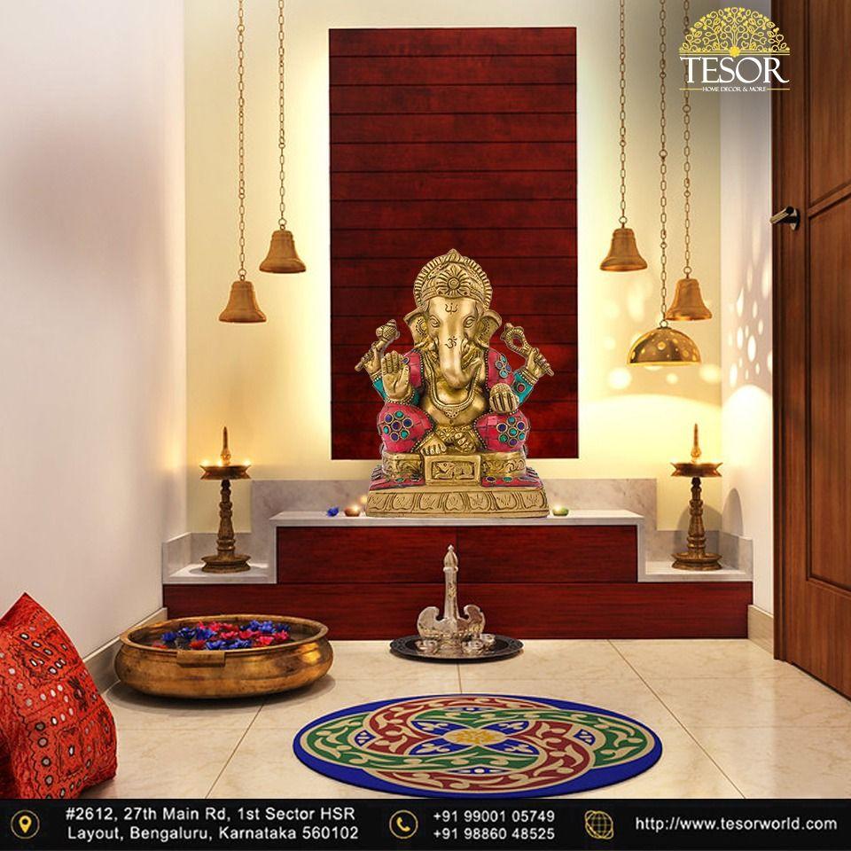 Buy Ganesh Meenakari From The Best Home Decor In Bangalore In 2020 Pooja Room Door Design Indian Living Rooms Pooja Room Design