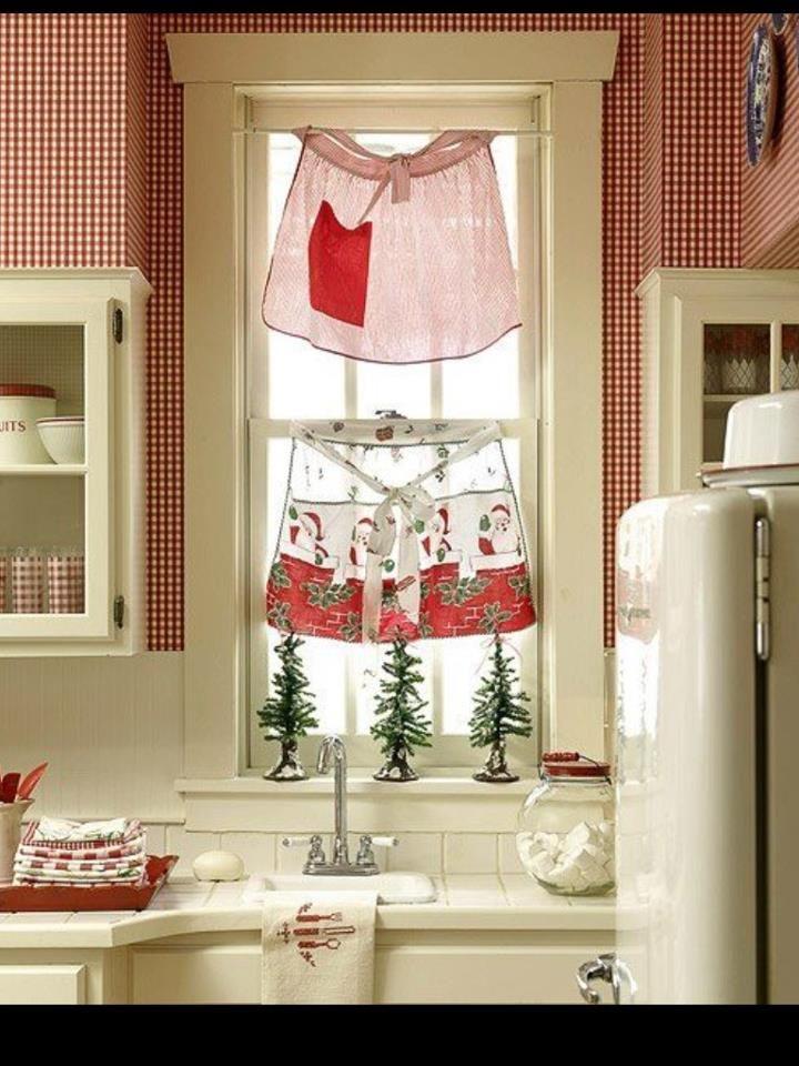 Vintage Apron Kitchen Curtains!! | Kitchen Inspirations | Pinterest