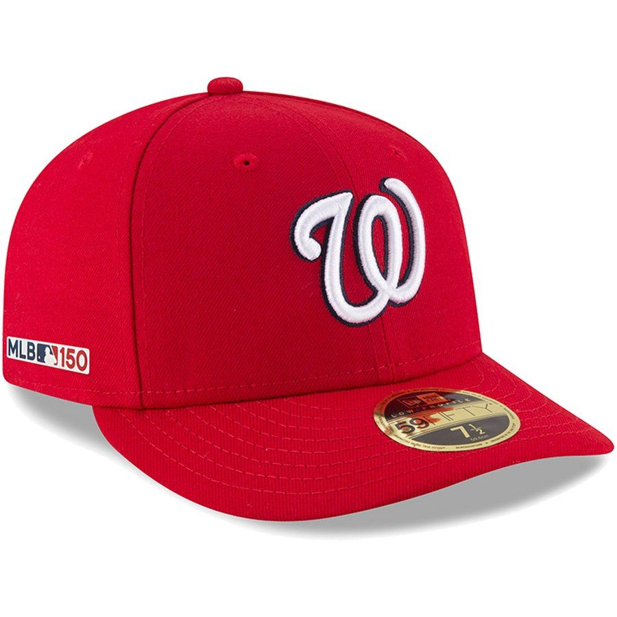 dbfa15292 Men's Washington Nationals New Era Red Game MLB 150th Anniversary ...