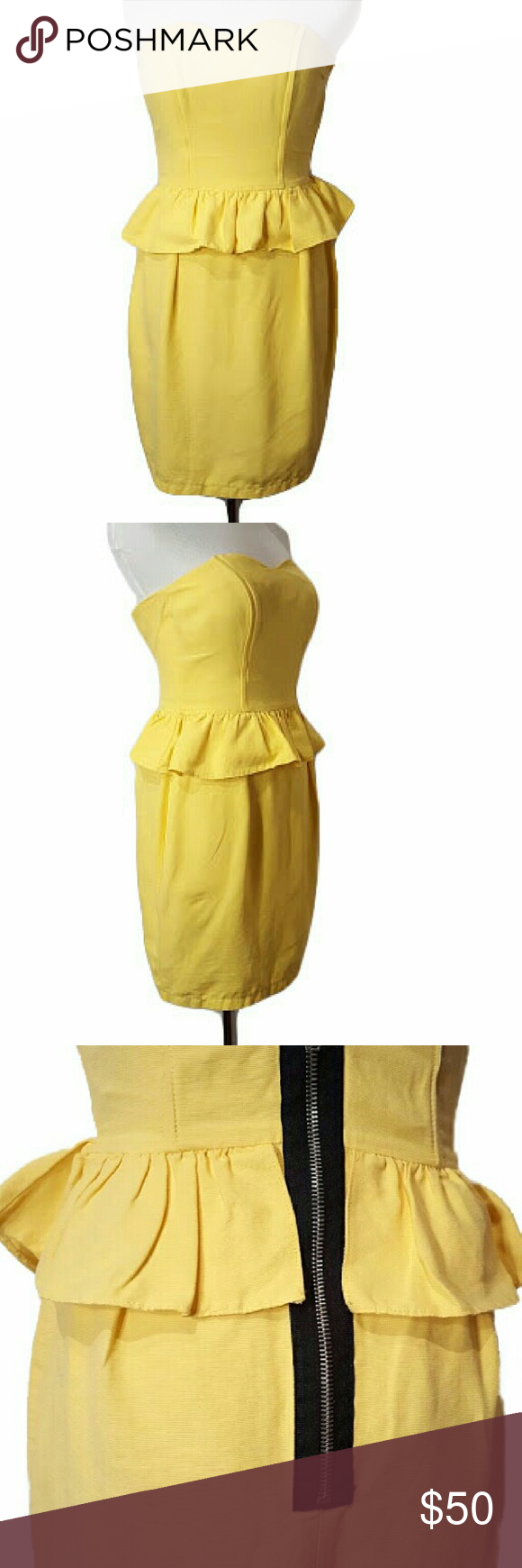 Hp Topshop Yellow Dress Yellow Strapless Dress Top Shop Dress Yellow Dress [ 1740 x 580 Pixel ]