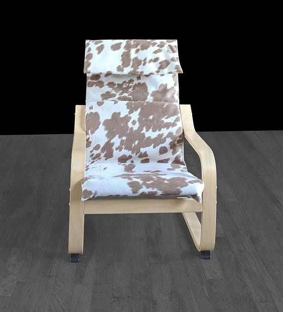 Astonishing Tan Faux Cowhide Animal Print Ikea Kids Poang Cushion Ikea Gmtry Best Dining Table And Chair Ideas Images Gmtryco