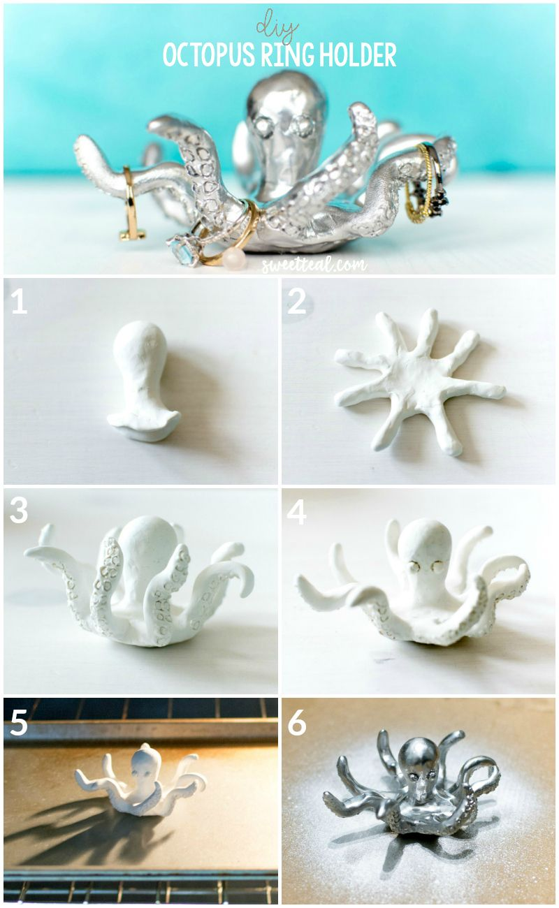 78463afebc DIY Octopus Ring Holder by Jenny Bess of Sweet Teal | Budget Friendly Gift  Idea | Clay Project | Jewelry Holder
