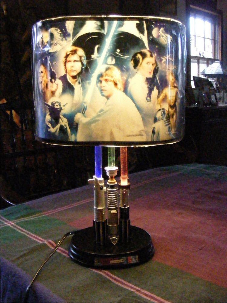 STAR WARS Lightsaber Legacy LAMP   Steve Anderson Bradford Exchange Light