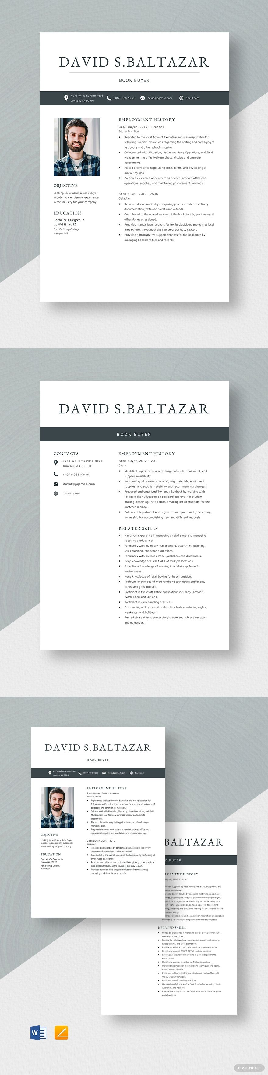 Book Buyer Resume Template in 2020 Project manager