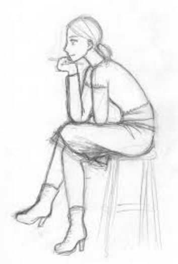 Person Sitting In A Chair Drawing People Sitting Pose Reference Sketch Poses