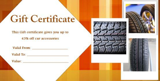 Personalized Auto Detailing Gift Certificate Templates - Automotive gift certificate template