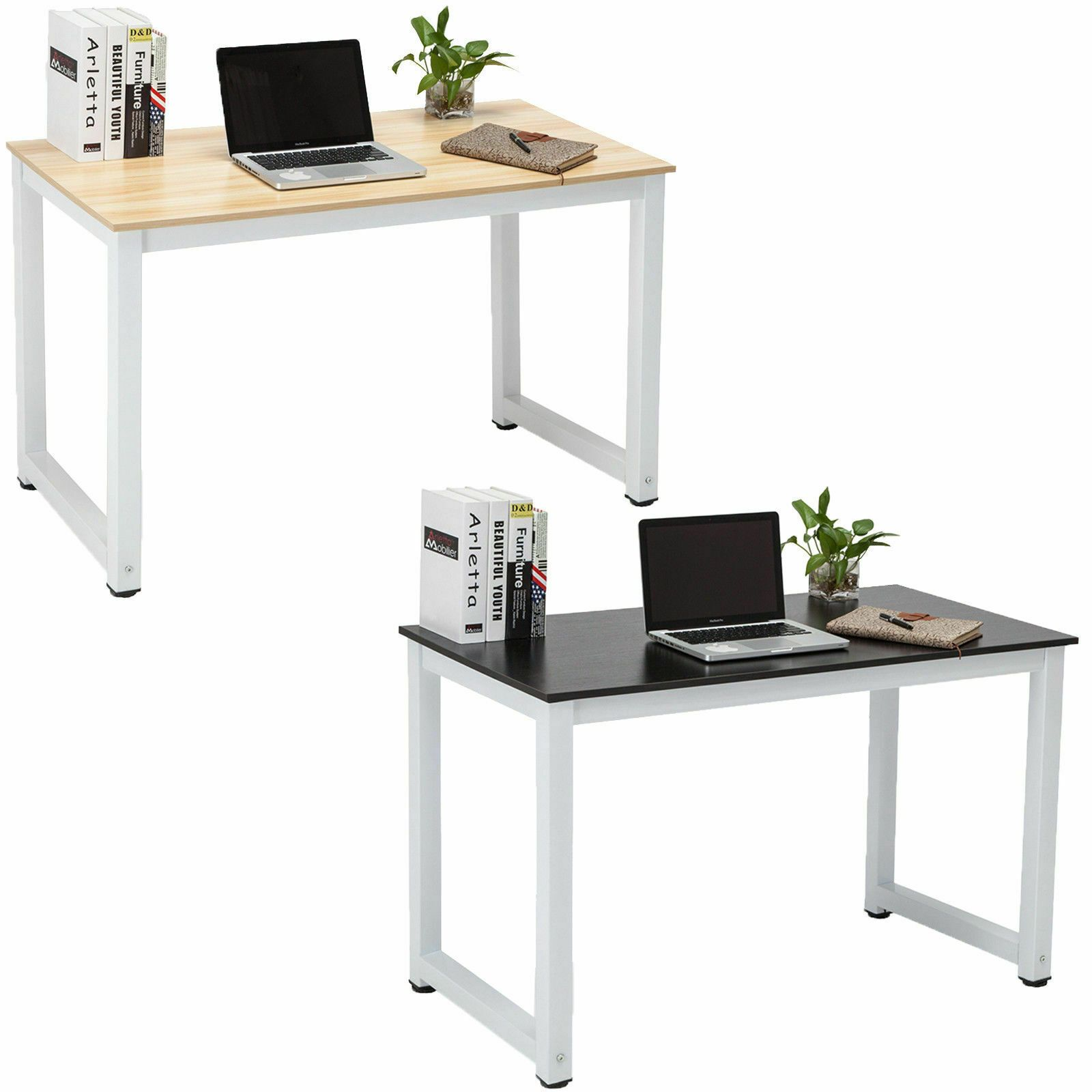 Wood Computer Desk Pc Laptop Table Study Workstation Home Office