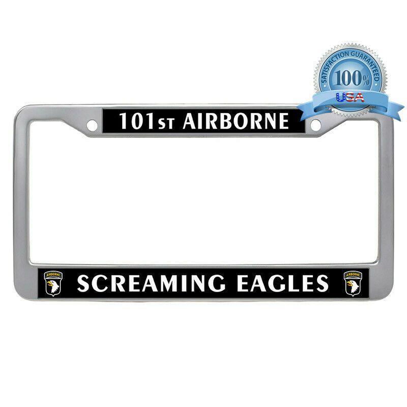 Sponsored Ebay 101st Airborne Division Screaming Eagles License Plate Frame Car Tag Holder License Plate Frames Army Veteran Veteran Car
