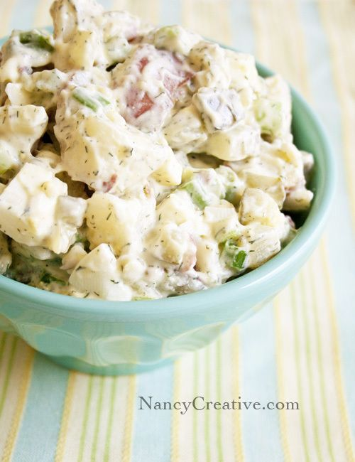 Dill Potato Salad With Dill Pickles And Pickle Juice Food