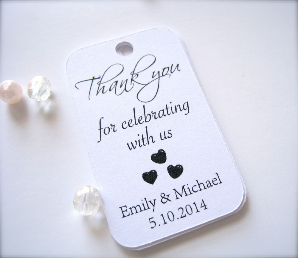 Decoration ideas for 50th wedding anniversary celebration   Personalized mini favor tags for wedding party favor tags gift