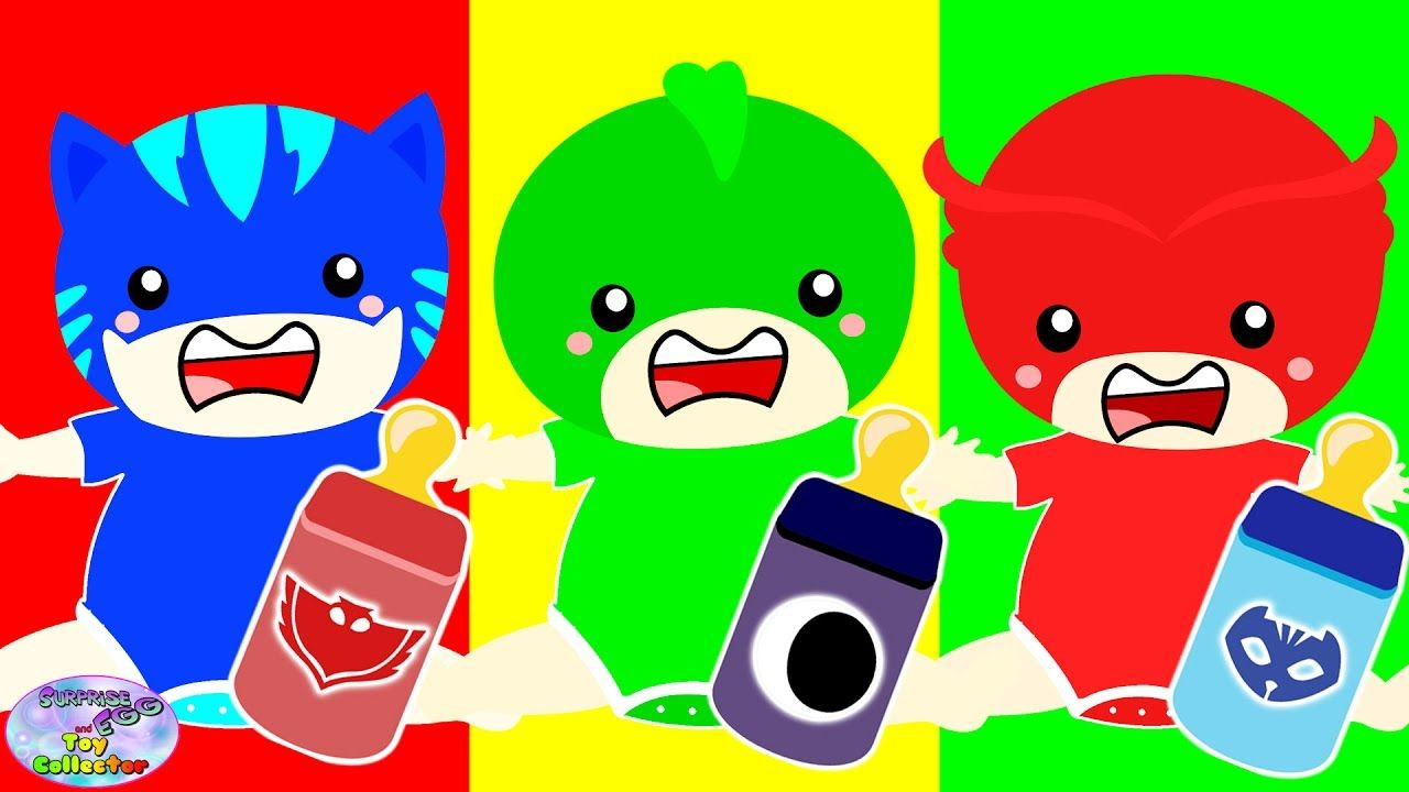 Baby Learn Colors PJ Masks Finger Family Colours For Kids Surprise ...