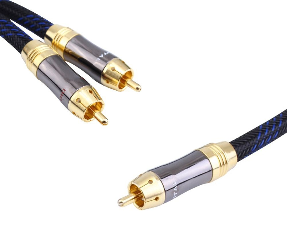 HIFI RCA Y Adapter Cable Subwoofer Y Cable 1x Cinch to 2x Cinch ...
