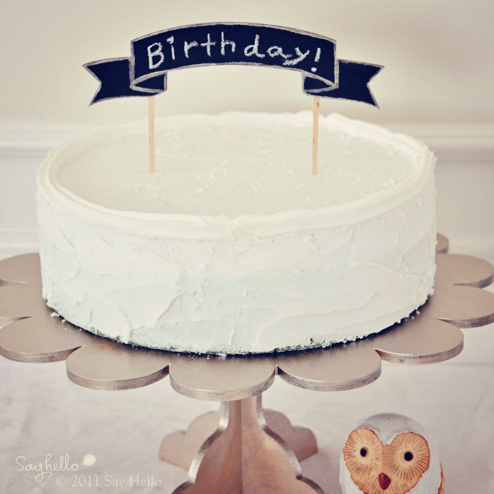 Great idea for a cake topper SweetPaul Cake Walk Pinterest
